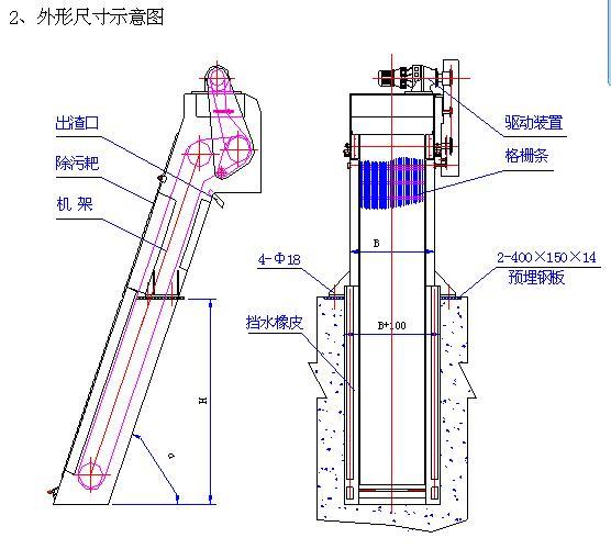 回转式机械格栅除污机